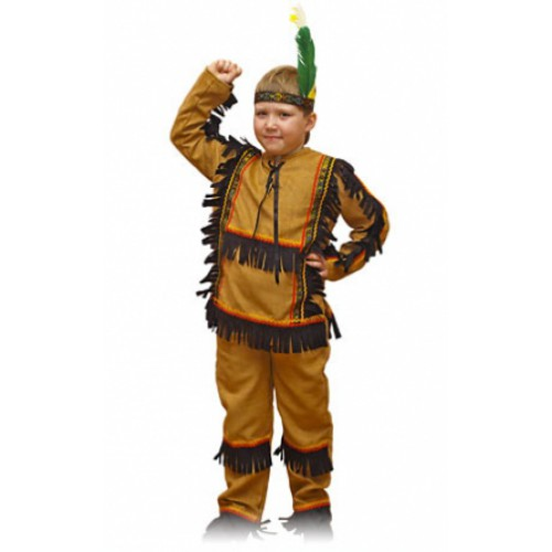 Карнавальный костюм индейца своими руками