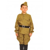 Детский костюм советского солдата