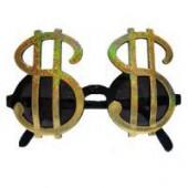 Очки с символом доллара