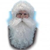 Парик (короткий) и борода Санта Клауса цвета слоновой кости