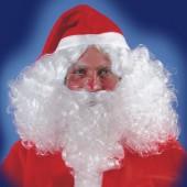 Парик и борода Санта Клауса (без очков и колпака)
