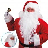 Парик и борода Санта Клауса белая