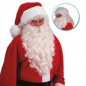 Парик и борода Санта Клауса слоновая кость