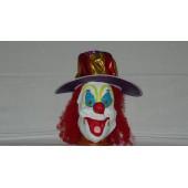 Маска Клоун в шляпе с волосами