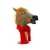 Маска лошадь коричневая