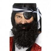 Борода, усы, парик черные