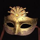 Карнавальная маска позолоченная