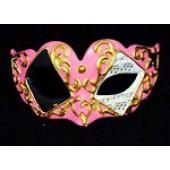 Карнавальная маска розовая