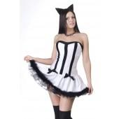 Костюм Кошечка черно-белая