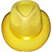 Шляпа желтая диско