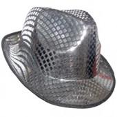 Шляпа диско серая