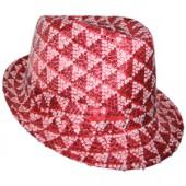 Шляпа диско с блестками