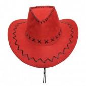 Шляпа ковбойская красная