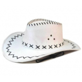 Ковбойская шляпа белая