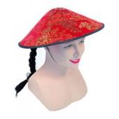Шляпка китайская, с косичкой