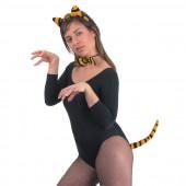 """Набор """"Тигр"""" (ушки на ободке, хвост, бабочка)"""