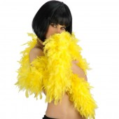 Боа страусиное 180 см. окружность 15 см. желтое