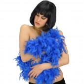 Боа страусиное 180 см. окружность 15 см. синее