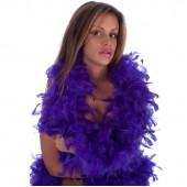 Боа страусиное 180 см. окружность 15 см. фиолетовое
