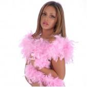Боа страусиное 180 см. окружность 15 см. светло-розовое