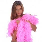 Боа страусиное 180 см. окружность 15 см. ярко-розовое (60 гр.)