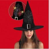 подробнее... Шляпа Ведьмы светящаяся (с батарейками) высота 36 см