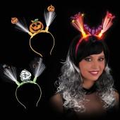 Ободок Хэллоуин светящийся в ассортименте на картоне