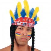 Диадема индейская с косичками