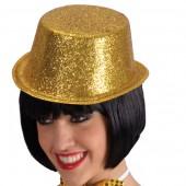 Цилиндр блестящий золотой