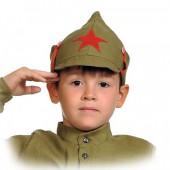 Буденовка детская с красной звездой.